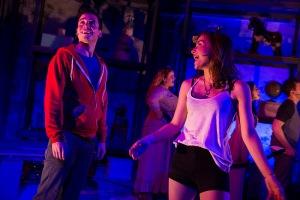 "Matt Doyle and Allison Scagliotti in ""Living Dead."" Photo by Matt Murphy."